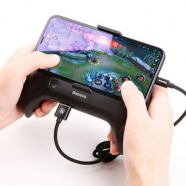 Cool Play Games Dissipate-heat Smartphone Hand Handle Gamepad Desktop Bracket Powerbank 1200 mAh black