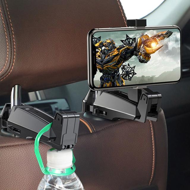 Car Rear Seat Headrest Phone Bracket Holder hook for 4.0-6.5 inch Smartphone