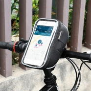 Bicycle Front Frame Handlebar Bag Touch Screen Phone Holder 6,5