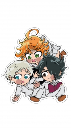 The Promised Neverland - Emma, Ray, Norman Chibi