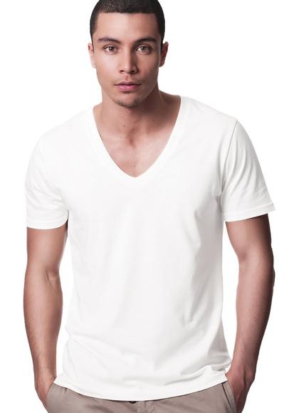 Men's V-Neck T-Shirt White