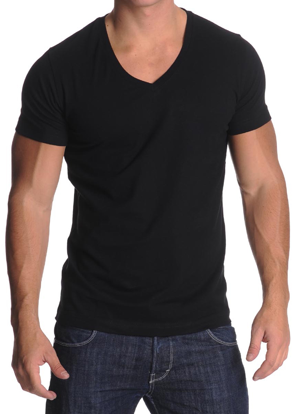 Men's V-Neck T-Shirt Black