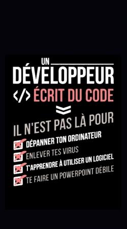 Un developpeur ecrit du code Stop