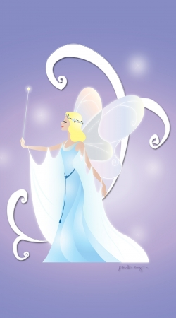 Artwork Virgo - Blue Fairy do Samsung Galaxy ACE 2 i8160